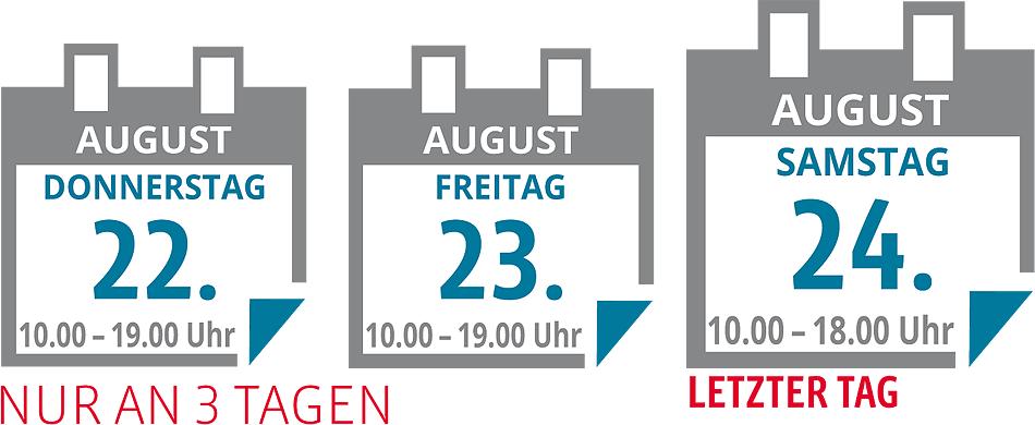 Küchen-Sonderverkauf nur an 3 Tagen: vom 22. bis 24. August - Möbel Gradinger, 67549 Worms