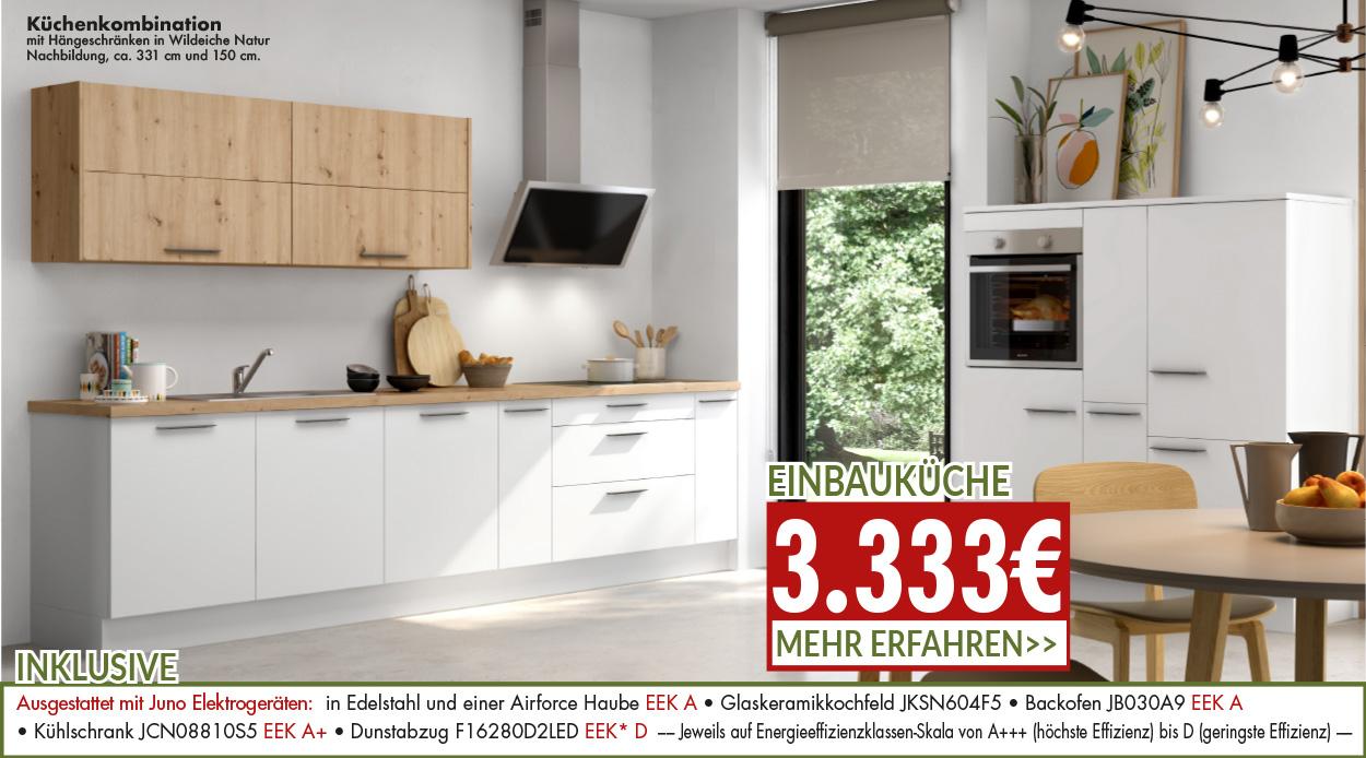 Küchenkombination für 3333 Euro