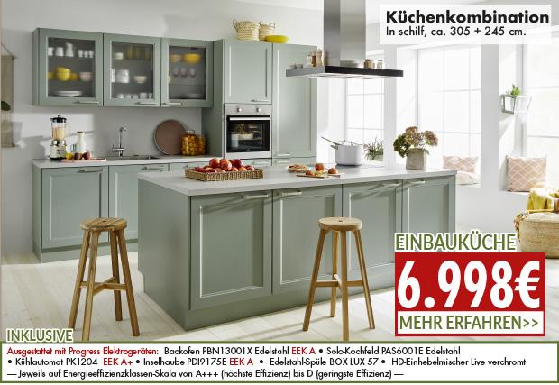 ausgefallene Küchenkombination für nur 6998 Euro