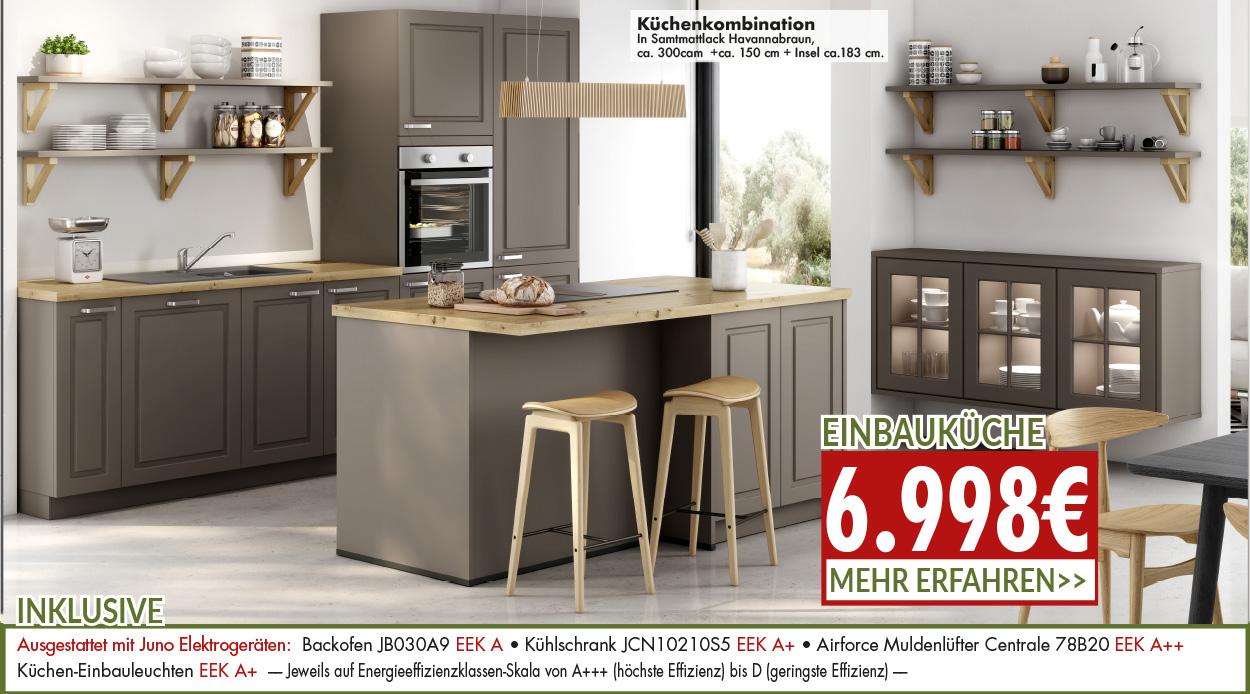 Küchenkombination zum Aktionspreis von 6998 Euro
