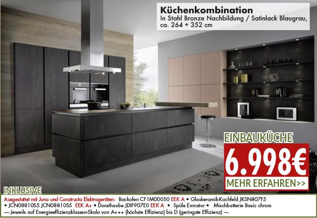 design Küchenkombination zum Angebotspreis von nur 6998 Euro