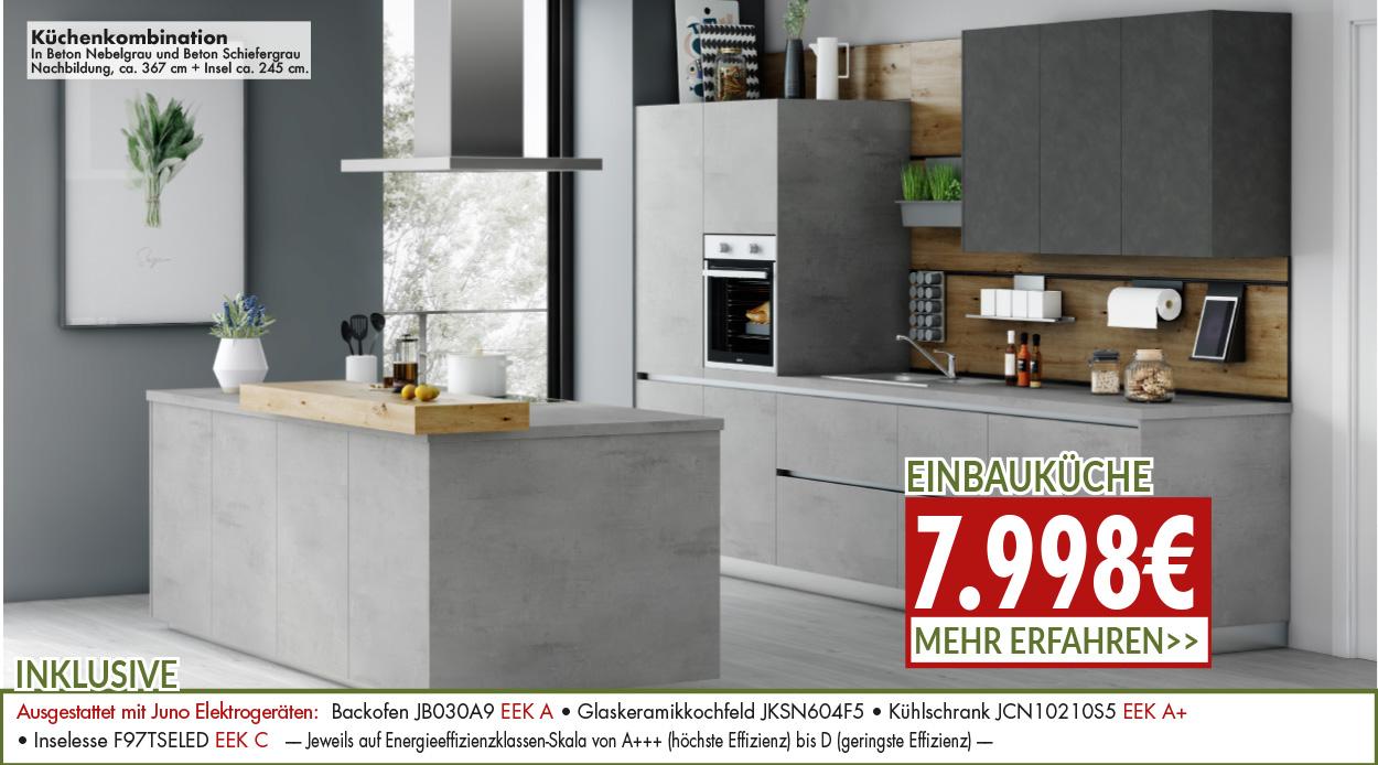 stilechte Küchenkombination für nur 7998 Euro