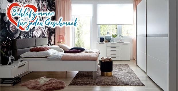 Schlafzimmer für jeden Geschmack bei Möbel gradinger