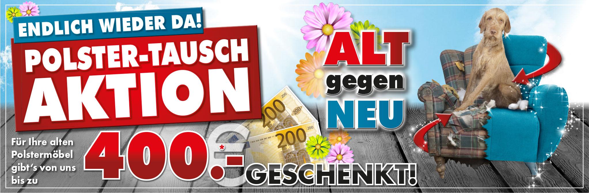 Polstertausch-Aktion bei Möbel Gradinger: Alt gegen Neu!