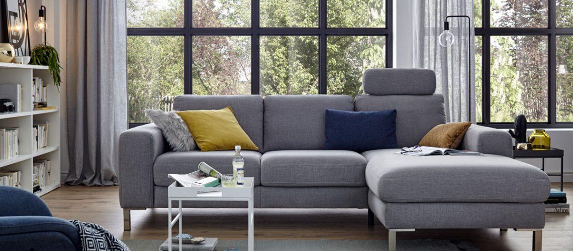 Global 7150 Polstergruppe Sofa Couch Möbel Gradinger Küche Aktiv Worms