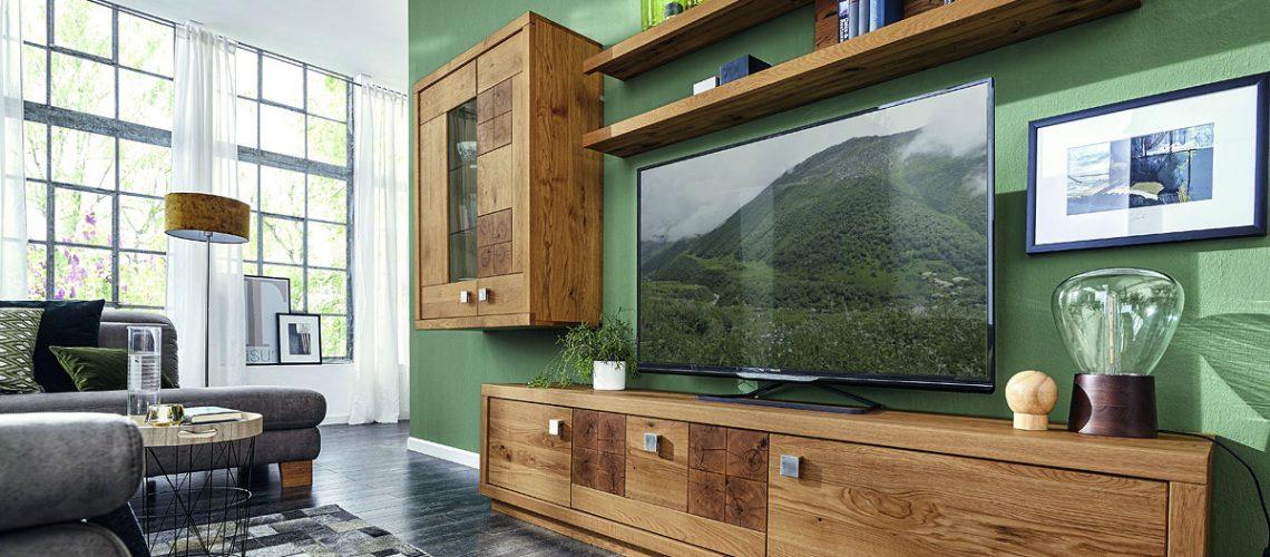 Natura-Wisconsin-Wohnwand-Eiche-geoelt-massiv-Hirnholz-TV-Kommode