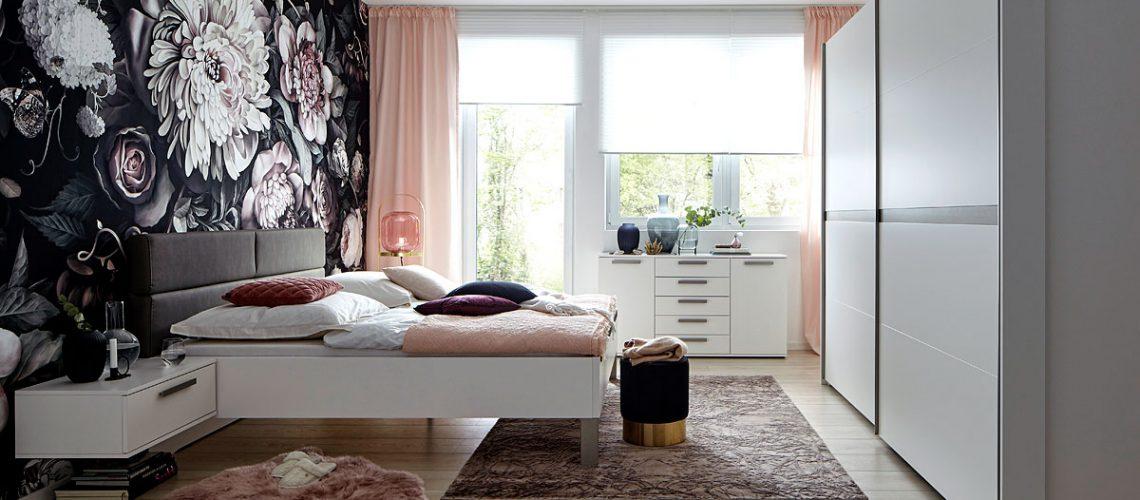 Schlafzimmer Global Viana: Schwebetürenschrank und Bettanlage Möbel Gradinger Küche Aktiv Worms