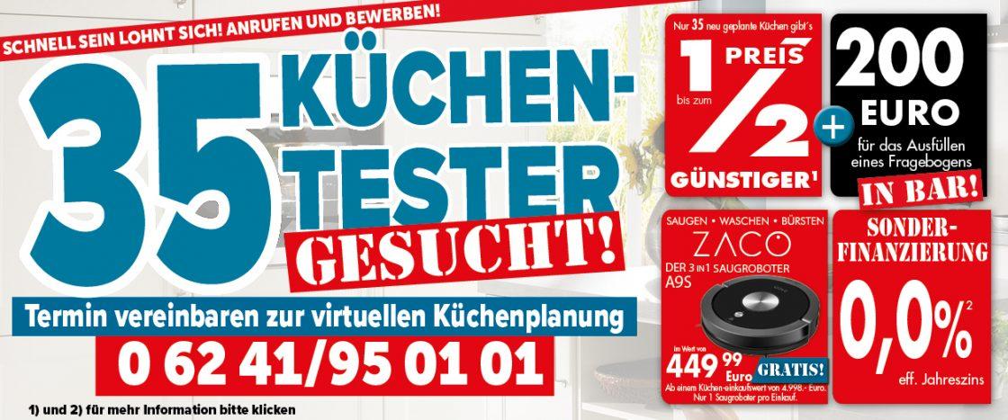 35 Küchentest bei Möbel gradinger in Worms gesucht!